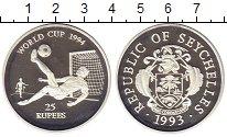 Изображение Монеты Сейшелы 25 рупий 1993 Серебро Proof Чемпионат мира по фу