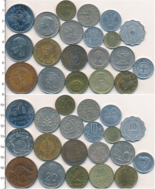 Изображение Лоты монет для начинающих нумизматов Монеты стран мира Лот №01602 0