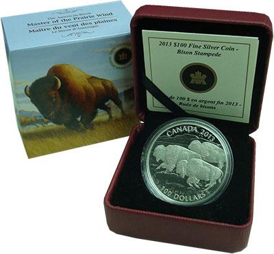 Изображение Подарочные монеты Северная Америка Канада 100 долларов 2013 Серебро Proof