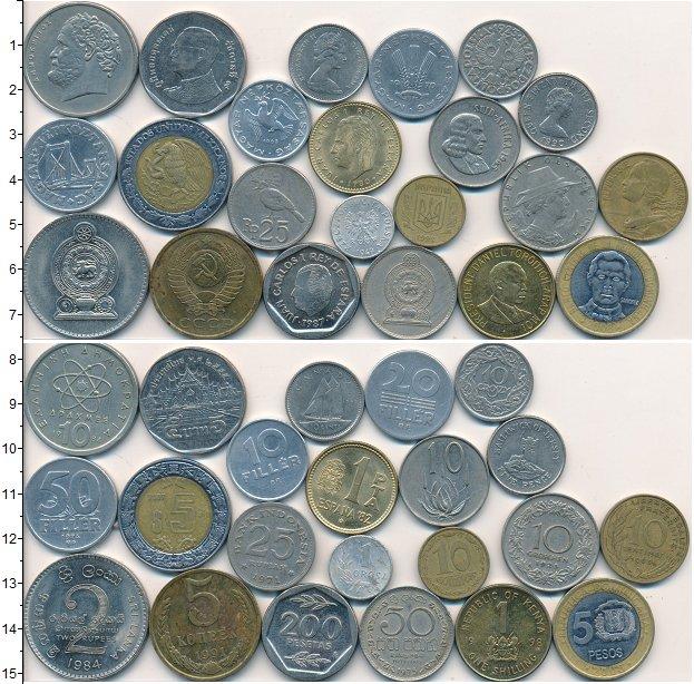 Изображение Лоты монет для начинающих нумизматов Монеты стран мира Лот №01618 0