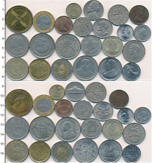 Изображение Лоты монет для начинающих нумизматов Монеты стран мира Лот №01628 0