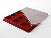 Изображение Аксессуары для монет Другие Пластиковый планшет на 15 ячеек (50х66х18мм) Б 0