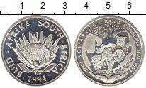 Изображение Монеты Африка ЮАР 1 ранд 1994 Серебро Proof-