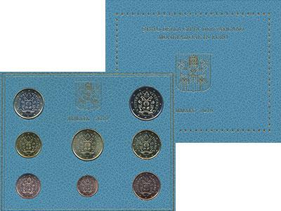 Изображение Подарочные монеты Ватикан Набор 2019 года 2019  UNC