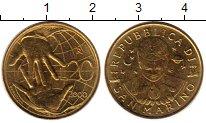 Изображение Монеты Европа Сан-Марино 20 лир 2000 Латунь UNC-