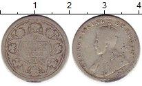 Изображение Монеты Азия Индия 1/4 рупии 1912 Серебро VF