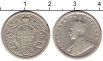 Изображение Монеты Азия Индия 1/4 рупии 1913 Серебро VF