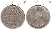 Изображение Монеты Индия 1/4 рупии 1916 Серебро VF