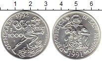 Изображение Монеты Европа Сан-Марино 1000 лир 1991 Серебро UNC