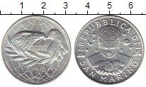Изображение Монеты Европа Сан-Марино 5000 лир 2000 Серебро UNC