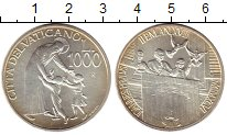 Изображение Монеты Европа Ватикан 1000 лир 1996 Серебро UNC