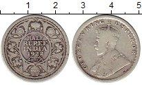Изображение Монеты Индия 1/2 рупии 1922 Серебро VF Георг V