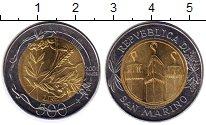 Изображение Монеты Сан-Марино 500 лир 2001 Биметалл UNC