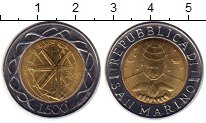 Изображение Монеты Сан-Марино 500 лир 2000 Биметалл UNC