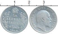 Изображение Монеты Индия 1/4 рупии 1910 Серебро VF Эдуард VII