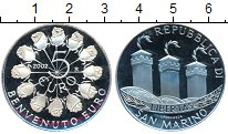 Изображение Монеты Сан-Марино 5 евро 2002 Серебро Proof