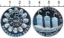 Изображение Монеты Европа Сан-Марино 5 евро 2002 Серебро Proof
