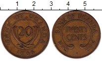 Изображение Монеты Уганда 20 центов 1966 Бронза XF-