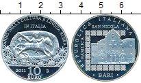 Изображение Монеты Италия 10 евро 2011 Серебро Proof-