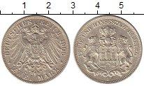 Изображение Монеты Гамбург 2 марки 1906 Серебро UNC-