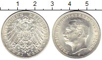 Изображение Монеты Баден 2 марки 1913 Серебро UNC Фридрих II