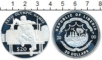 Изображение Монеты Либерия 20 долларов 2000 Серебро Proof Олимпийские игры, бе