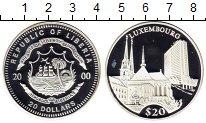 Изображение Монеты Либерия 20 долларов 2000 Серебро Proof- Люксембург