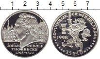 Изображение Монеты Европа Нидерланды 25 экю 1998 Серебро Proof