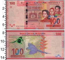 Изображение Банкноты Боливия 100 боливиано 2018  UNC