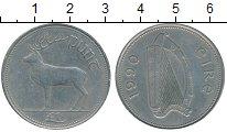 Изображение Монеты Ирландия 1 фунт 1990 Медно-никель XF