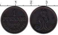 Изображение Монеты Германия Ганновер 1 пфенниг 1860 Медь XF-