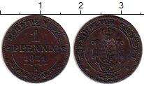 Изображение Монеты Германия Саксония 1 пфенниг 1871 Медь XF