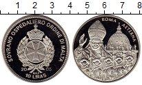 Изображение Монеты Мальтийский орден 10 лир 2005 Медно-никель Proof Памяти  Иоанна  Павл