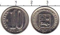 Изображение Монеты Венесуэла 10 сентим 2007 Медно-никель UNC-