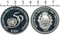 Изображение Монеты Южная Америка Уругвай 200 песо 1995 Серебро Proof