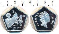 Изображение Монеты Фиджи 5 долларов 2000 Серебро Proof-