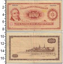 Изображение Банкноты Европа Дания 100 крон 1961  VF