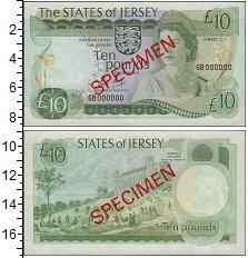 Изображение Банкноты Остров Джерси 10 фунтов 0  UNC