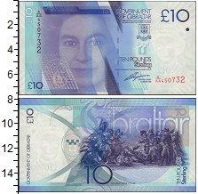 Изображение Банкноты Гибралтар 10 фунтов 2010  UNC