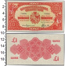 Изображение Банкноты Тонга 1 фунт 1966  UNC