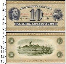 Изображение Банкноты Дания 10 крон 1952  XF