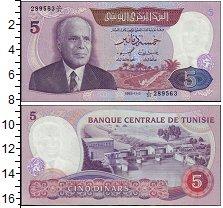Изображение Банкноты Тунис 5 динар 1983  UNC