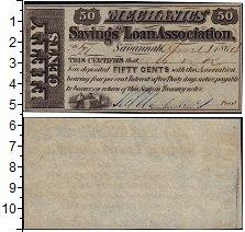 Изображение Банкноты Северная Америка США 50 центов 1864  UNC-