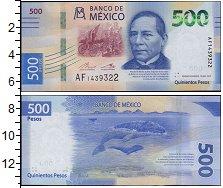 Изображение Банкноты Северная Америка Мексика 500 песо 2017  UNC