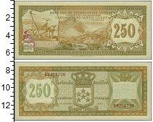 Изображение Банкноты Нидерланды Антильские острова 250 гульденов 1967  UNC