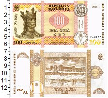 Изображение Банкноты Молдавия 100 лей 2015  UNC