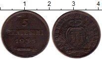 Изображение Монеты Сан-Марино 5 сентесим 1935 Бронза XF