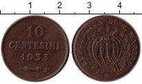 Изображение Монеты Сан-Марино 10 сентесим 1935 Бронза XF