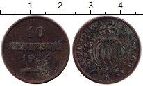 Изображение Монеты Сан-Марино 10 сентесим 1935 Бронза VF