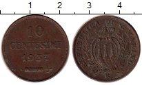 Изображение Монеты Сан-Марино 10 сентесим 1937 Бронза XF
